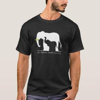T-shirt Seulement les éléphants devraient porter l'ivoire