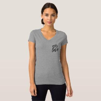T-shirt Seulement pièce en t d'amour