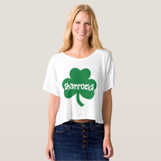 T-shirt Shamrocks Bella+T-shirt Boxy de dessus de culture