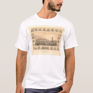 T-shirt Shasta, carte panoramique 1856 (1612A) de CA