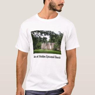 T-shirt sheldon, ruines d'église épiscopale de Sheldon