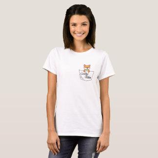 T-shirt Shiba chanceux dans votre pièce en t de poche