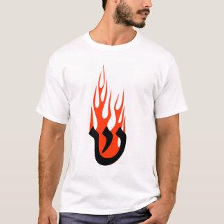T-shirt Shin avec des flammes