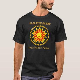 T-shirt Shirt, rayon de soleil et étoiles du capitaine