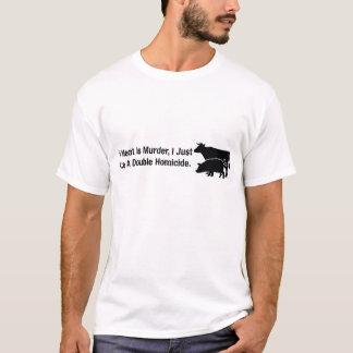 T-shirt Si la viande est meurtre…