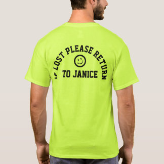 T-shirt Si svp perdu tee - shirt de retour de slogan