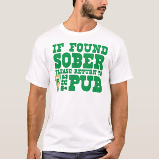 T-shirt Si svp retour SOBRE trouvé à la publication