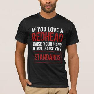 T-shirt Si vous aimez un roux soulevez votre main