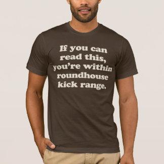 T-shirt si vous pouvez lire ceci vous êtes dans le