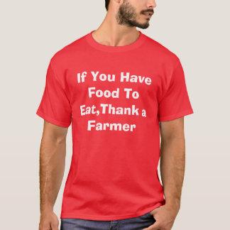 T-shirt Si vous prenez la nourriture à manger, remerciez