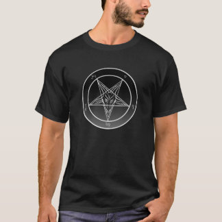 T-shirt Sigil Noir de pièce en t noire de Baphomet