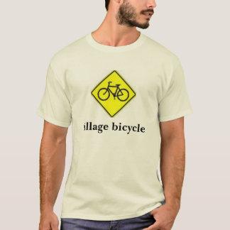 T-shirt signe de bicyclette, bicyclette de village