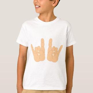 T-shirt Signe de main de rock