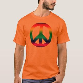 T-shirt Signe de paix d'arc-en-ciel