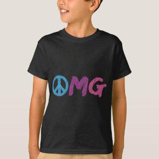 T-shirt signe de paix d'omg