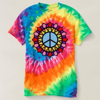 T-shirt Signe de paix hippie de colorant de cravate de