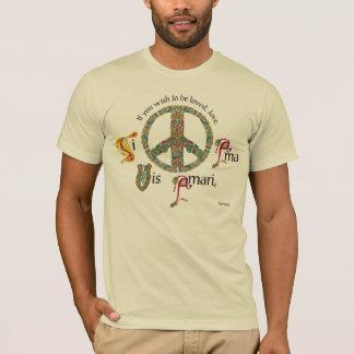 T-shirt Signe de paix latin et celtique