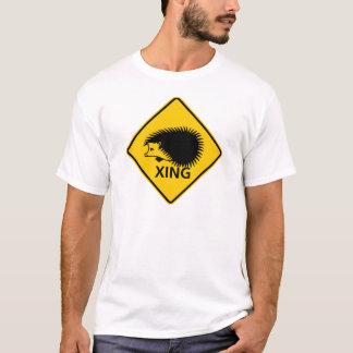 T-shirt Signe de route de croisement de hérisson