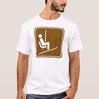 T-shirt Signe de route de remonte-pente