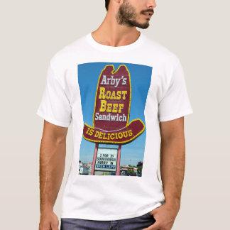 T-shirt Signe de SANDWICH à BOEUF de RÔTI d'ARBY