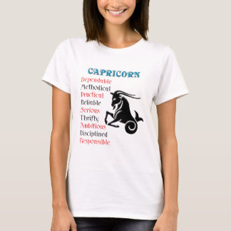 T-shirt Signe de zodiaque d'horoscope de Capricorne