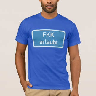 T-shirt Signe permis par nudisme, Allemagne