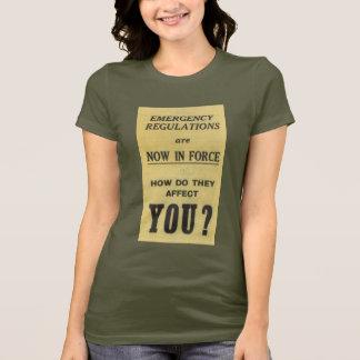 T-shirt Signe vintage : Règlements de secours maintenant