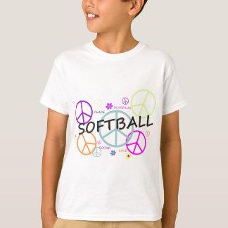 T-shirt Signes de paix colorés par base-ball