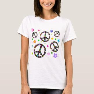 T-shirt Signes et fleurs de paix