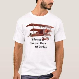 T-shirt Silence ! Le baron rouge pense