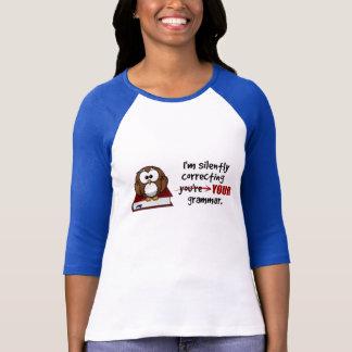 T-shirt Silencieusement correction de votre hibou