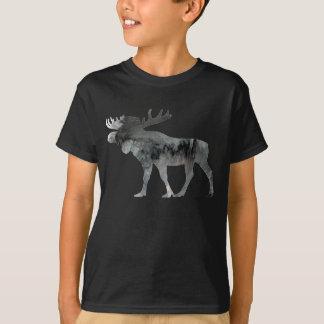 T-shirt Silhouette abstraite d'orignaux