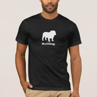 T-shirt Silhouette anglaise de bouledogue