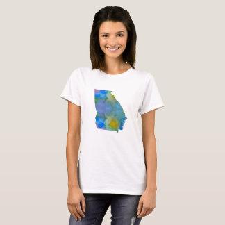 T-shirt Silhouette colorée de la Géorgie