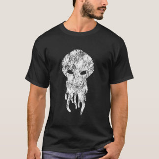 T-shirt Silhouette de blanc de Cthulhu