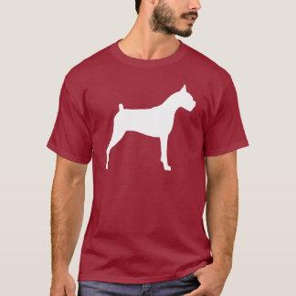 T-shirt Silhouette de chien de boxeur (blanche)