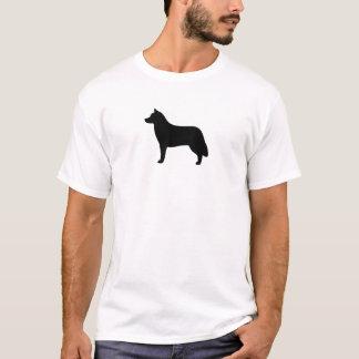 T-shirt Silhouette de chien de traîneau sibérien