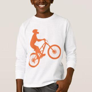T-shirt Silhouette de cycliste de montagne