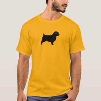 T-shirt Silhouette de Norfolk Terrier