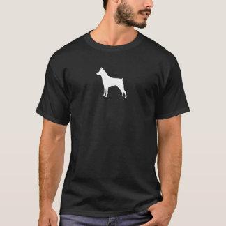 T-shirt Silhouette de Pinscher miniature