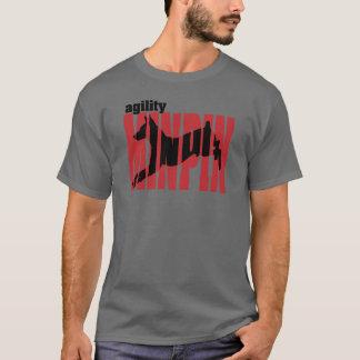 T-shirt Silhouette de Pinscher miniature, agilité