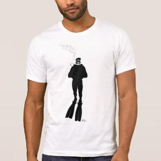 T-shirt Silhouette de plongeur autonome (homme)
