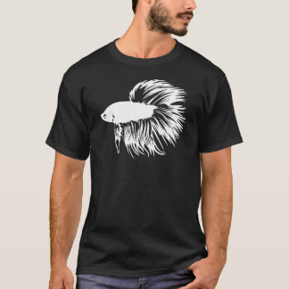 T-shirt Silhouette de poissons de Betta