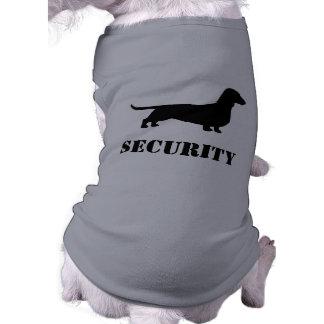 T-shirt Silhouette de teckel - chien de SÉCURITÉ