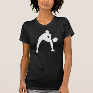 T-shirt Silhouette de tennis dans le noir sur la chemise