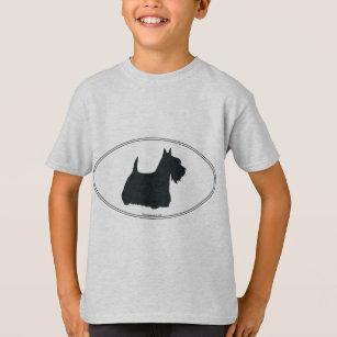 T-shirt Silhouette de Terrier d'écossais