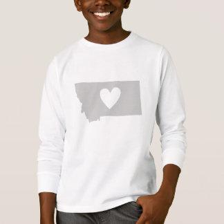 T-shirt Silhouette d'état du Montana de coeur