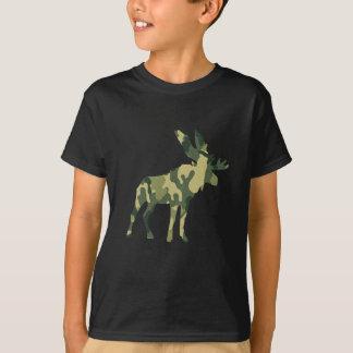 T-shirt Silhouette d'orignaux de camouflage