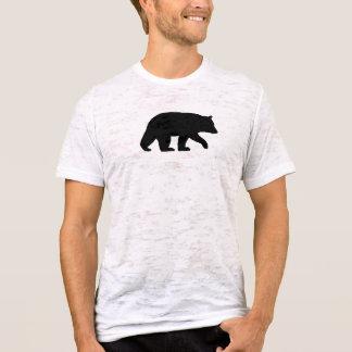 T-shirt Silhouette d'ours noir