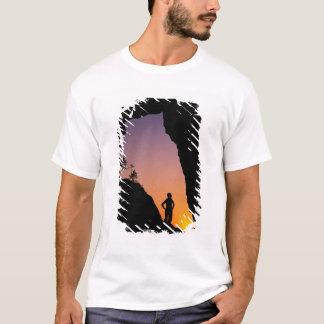T-shirt Silhouette du randonneur, point des voûtes,